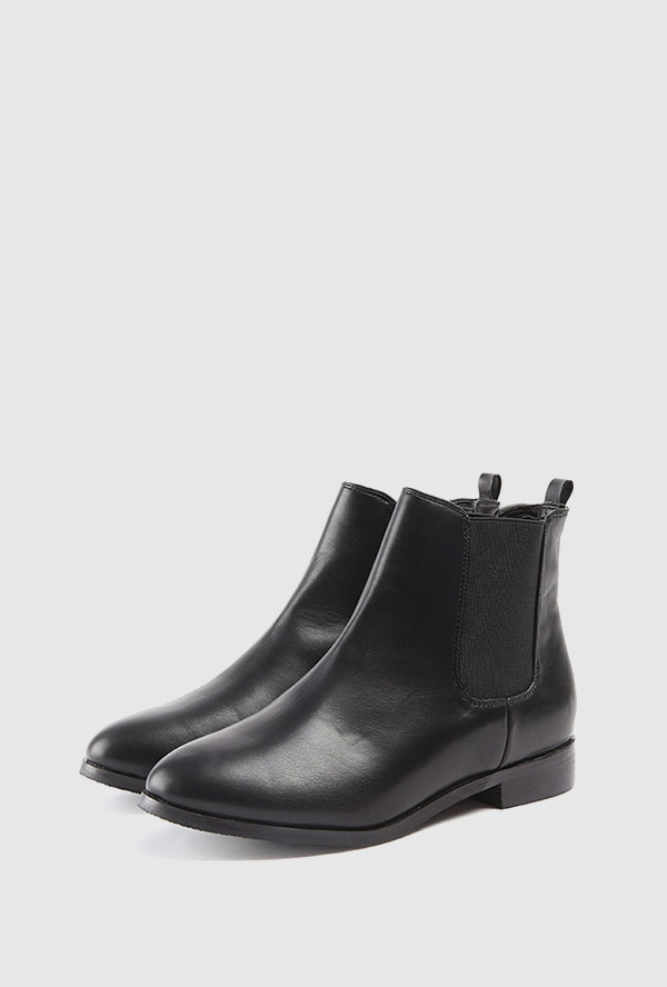 simple band ankle boots