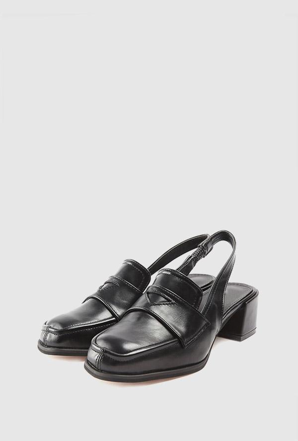 square slingback heel