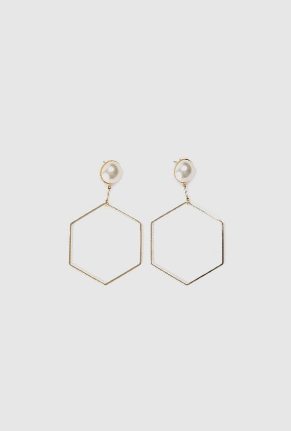 hexagon earring