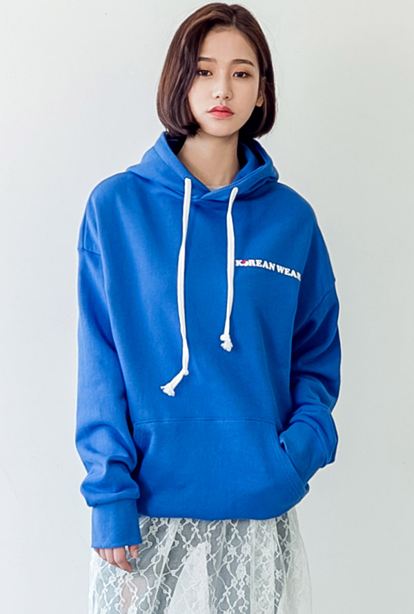 korean lettering hood T
