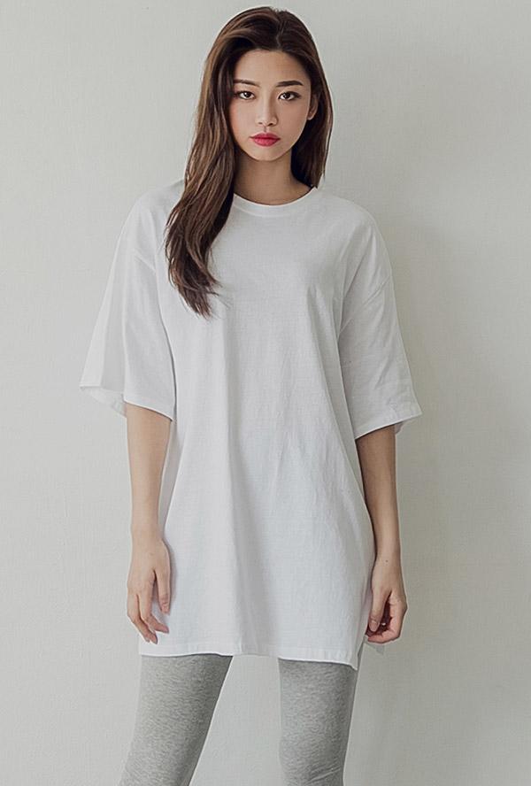 델리 롱 레이어드 티셔츠 2 COLOR,아이보리,블랙,봄가을 데일리아이템 추천)